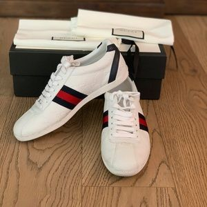 Gucci GG printed white leather Women's sneakers